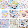 46PCS Kawaii Stamps Stickers Vintage Stationery DIY Scrapbooking Diary Stickers