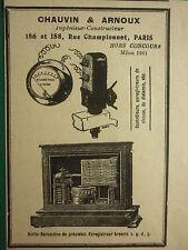1909-10 PUB CHAUVIN ARNOUX HORLO BAROMETRE ENREGISTREUR INSTRUMENT PRECISION AD