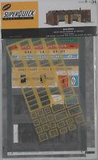 SUPERQUICK B34 Bus Depot/Aircraft Hangar 00/H0 Model Rail Card Kit