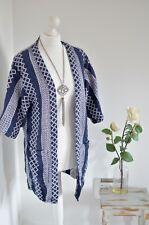 CORTEFIEL WOMAN Blue cotton aztec print kimono jacket MEDIUM 10/12