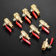 """Pack Of 1 Durable Brass Lever Ball Valve 1/4"""" 3/8"""" 1/2"""" Male to 6-12mm Hose Barb"""