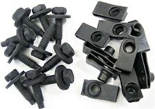 """Ford 5/16"""" Body Bolts & U-nut Clips- 27/32"""" Center To Edge- 20 pcs (10ea)- #374"""