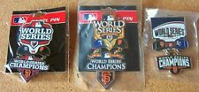 2010 Rangers 2012 Tigers 2014 Royals v SF Giants Champions World Series pins