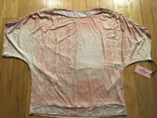 Juicy Couture Womens Pink & White Glitter Snakeskin Top Size L NWT