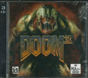 Doom 3, III, 3 CDs, PC Shooter Game, Brand New & Sealed, Windows XP, 2000, Vista