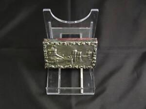 Antique Victorian Silver Castle-Top Note Case, Birmingham, Joseph Willmore, 1839