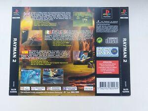 playstation 1 back inlay insert artwork only rayman 2