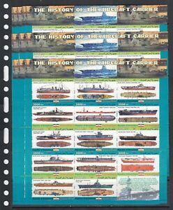 Aircraft carriers Ships 2011 Somaliland MNH 14 v M/s set perf X 10 Wholesale lot