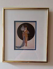 """Erte - """"Athena""""  Vintage Framed Picture Postcard"""