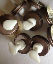 6 Mason Jar FOAMING Soap Dispenser Lids. Weathered Bronze Lids