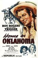 OLD LARGE ROY ROGERS COWBOY MOVIE POSTER, Home In Oklahoma 1946 1