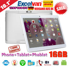 10,1 Zoll EXCELVAN 3G WIFI Android 6.0 Tablet PC 16GB 2*SIM 4*Core Smartphone EU