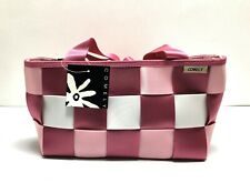 COMELY PINK AND WHITE SEAT BELT BAG