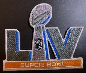 "SUPER BOWL 55 LV PATCH CHIEFS BUCCANEERS SUPERBOWL 4"" SEW IRON ON BEST QUALITY"