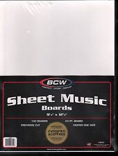 100 Standard Size Sheet Music Backing Boards and Bags Sheet Music