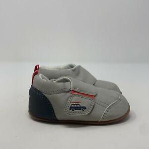 Carters Toddler Kids Alex CS171263 Gray Hook And Loop Casual Sneaker Shoes Sz 4