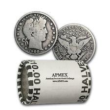 90% Silver Barber Half Dollars - $10 Face Value Roll - Good or Better