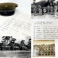 WWII 640th Tank Destroyer Battalion Signatures Guadalcanal Philippines Relic Lot