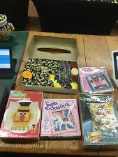 Vintage New Latch Hook , Cross Stitch , Boom , Extra Yarn Bundle Lot
