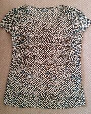 Ladies women top front layers blouse shirt short-sleeved C.UNION size 10