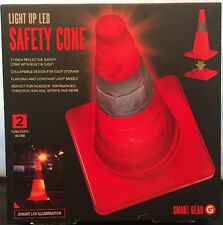 Smart Gear Light Up LED SAFTY Safety Cone ~ Collapsible ~ 17In. Orange with LED