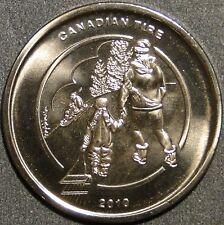 BU UNC 2010 Canadian Tire Money coin limited edition Toboganning Sledding