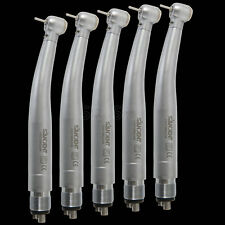 5x Dental LED Turbina Large Torque Fiber Optic High Speed Handpiece 4 Hole