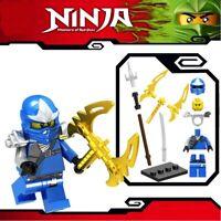 Ninjago Blue Ninja Jay ZX Spinjitzu Custom Lego Mini Figure Lloyd Kai Army Toy
