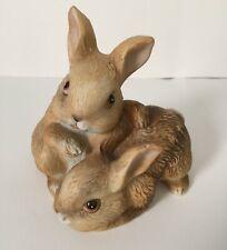 Homco Ceramic Bunny Rabbits #1455