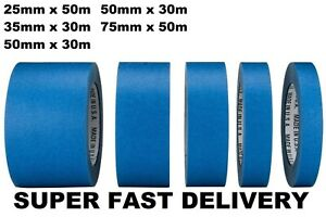 NEW BLUE PAINTERS CLEAN PEEL MASKING TAPE 24MM 35MM 50MM 75MM - FAST DELIVERY