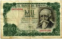 BILLETE DE 1000 PESETAS DE 1971 (BC) JOSÉ ECHEGARAY (SERIE 2W)