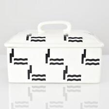 German Art Deco Bauhaus Era Pottery Biscuit Box Spritzdekor
