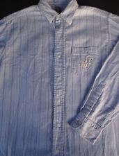 Ralph Lauren Mens Lauren Polo Button Front Long Sleeve Striped Logo Shirt S