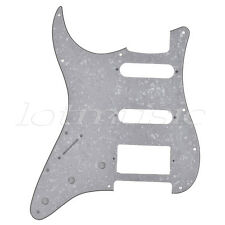 Electric Guitar Pickguard Scratch Plate for ST Parts HSS White Pearl 3 Ply