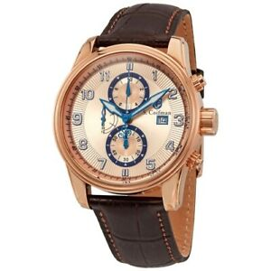 S. Coifman SC0311 43mm Heritage Quartz Chronograph Leather Strap Mens Watch