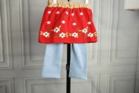 New Girl Knit Stretch culottes Skirt Leggings Red Blue Floral Sz 24M 2T 3T