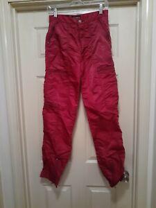Vintage 1980's Bugle Boy Co -  Parachute Pants - Cranberry/Burgundy