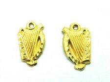 9ct Yellow Gold fancy Harp Musical String Instrument Stud Earrings
