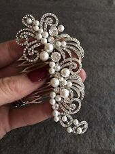 VINTAGE DESIGN WEDDING HAIR COMB DIAMANTE AND PEARL VINTAGE ART DECO HEADDRESS