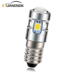 E10 2835 4 LED Screw Fit Light Vintage Bicycle Bulb Warm/White 3V/4.5V/6V/10-30V