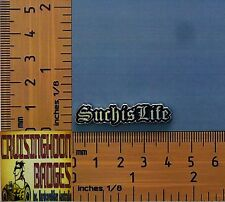 Such Is Life Ned Kelly Bikers Lapel Pin / Badge