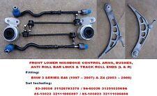 BMW 3Series Front Lower Wishbone Arm, Bush, Link & Rod Full Set