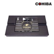 Cohiba Crystal Ashtray w/ Carbon Fiber Base