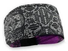 Harley-Davidson Women's Lace Skull Reversible Headband, Black & Pink HP29180