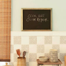 Wooden Noticeboard Kitchen Notice Message Sign Chalkboard Table Board Home Decor