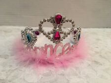 Girls Princess Fairy Tiara Silver Pink Wedding Outfit Costume Pretend Play