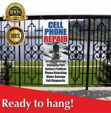Cell Phone Repair Banner Vinyl / Mesh Banner Sign Flag Screen Damage Diagnostic