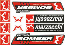 Marzocchi Bomber Fork / Suspension Graphic Decal Kit Sticker Adhesive Set Red #1