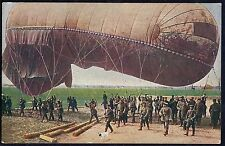 GERMAN 1914 WWI MILITARY ARMY BARRAGE BALLOON FESSEL BALLON PRC