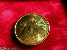 VINTAGE RELIGIOUS  GOLD ANGEL COIN  DOUBLE SIDED METAL VERY NICE